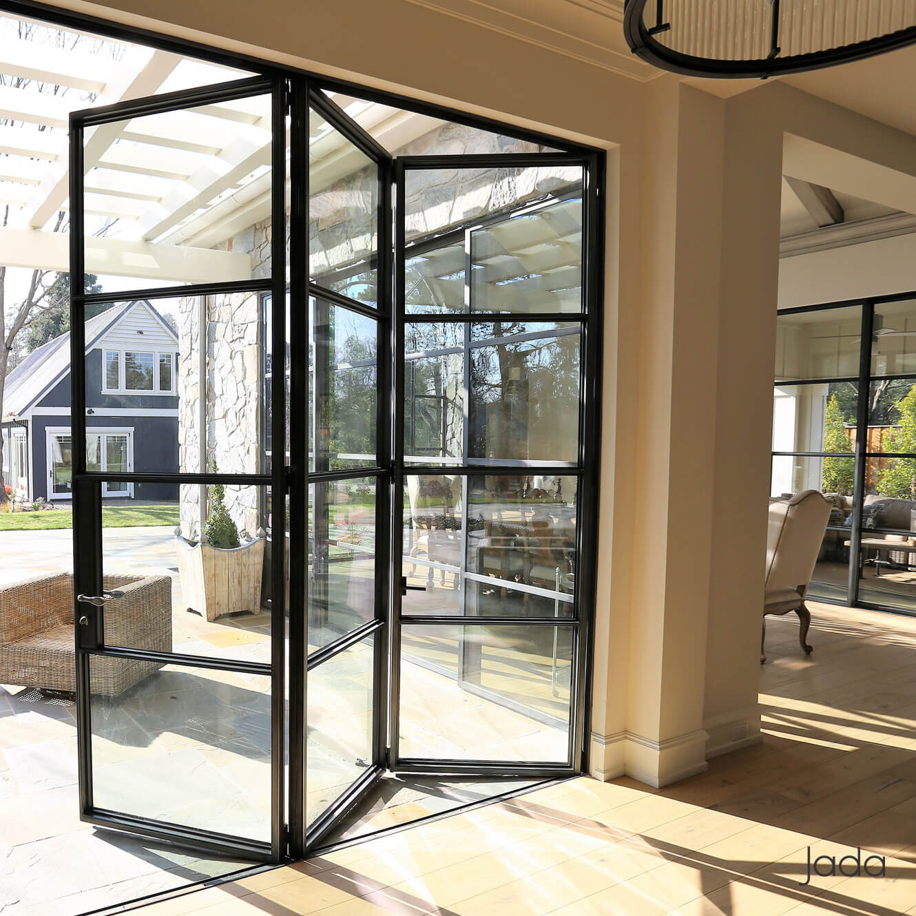 Thermally Broken Steel Folding Doors Windows Jada